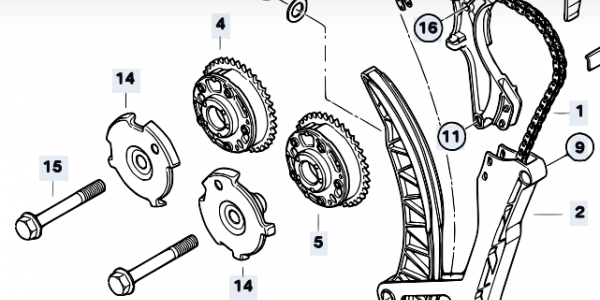 N42 Timing Chains (318i E46 and 318ti – facelift engines)